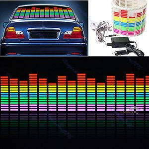 Car Sticker Music Rhythm LED Flash Light Lamp Sound Activated Equalizer 3 Sizes