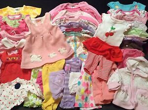 Huge 38 Piece Lot Baby Girl's Size Newborn 0 3 3 3 6 6 Months Clothes