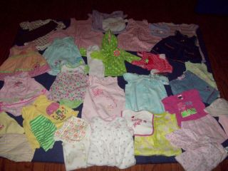 Huge 40 Piece Lot Baby Girl Clothes Size 9 Months Winter 12 Months Summer