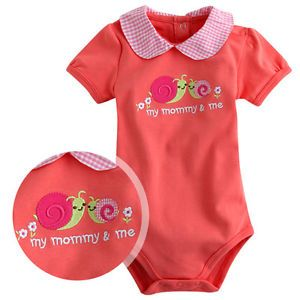 Made in Korea Mom and Me Orange Baby Boy Girl Infant Cotton Clothing WBA 1050