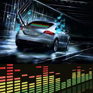 90x10cm Cool Car Music Rhythm Sound Activated Equalizer Lighting Light Lamp A