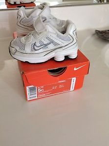Little Nike Shox Remix Size 5C 5 Infant Boys Toddler Baby White Shoes