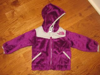 North Face Baby Girls Oso Plush Soft Fleece Thermal Jacket Premiere Purple