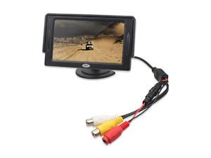 "TaoTronics 4 3"" inch TFT LCD Car Video Monitor for VCR DVD GPS Camera w Baffle"