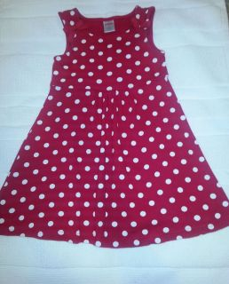 Gymboree Girls Size 3T Valentines Day 2010 Red Polka Dot Dress