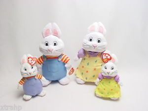 Max and Ruby Large Plush Beanie Baby Set Toy Doll Ty