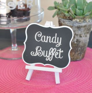 New Large Chalkboard Easel Wedding Place Card Holders Favors Lot Free US SHIP