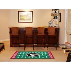 "Georgia Bulldogs Football Field Runner Area Rug Floor Mat 30"" x 72"""