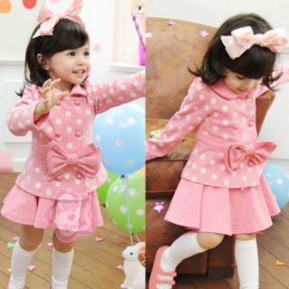 Baby Kid Coat Top Skirt Dress 2 Piece Outfit Set Sz 3 4 Beauty Clothing Costume