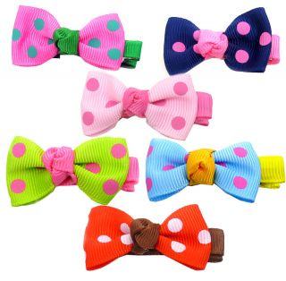 "Cute Baby Toddler Girls Bow Hair Clip Pin 1 8"" 4cm Alligator Croc Clips Pins"