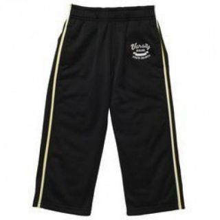 NWT OshKosh Infant Toddler Boys Black Yellow Pull on Polyester Athletic Pants