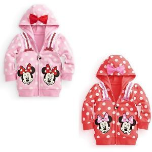 Children Clothes Baby Girl Minnie Mouse Coat Outwear Top Hooded Sweater Jacket