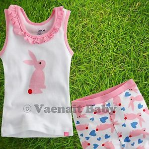 "2pcs Vaenait Baby Toddler Kids Clothes Top Shorts Outfit ""One Point Pink"" 2 3Y"
