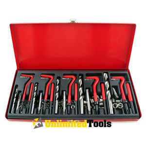 131 PC Auto Engine Block Damaged Thread Repair Tool Kit Automotive Metal Case HD