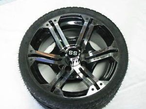Golf Cart Wheel and Tire Combo 14'' Wheel and Low Profile Tire Club Car EZ Go