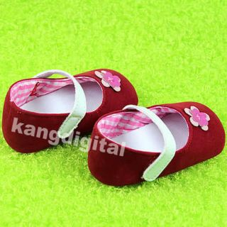 1pair Sweet Cute Flower Baby Kids Toddler Girls Princess Soft Sole Crib Shoes