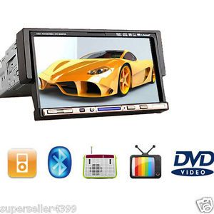 "1 DIN in Dash 7""Touch Screen Car Stereo Audio TV Video DVD Player iPod Bluetooth"