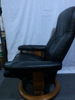Ekornes Stressless Modern Ambassador Black Leather Recliner Chair Only