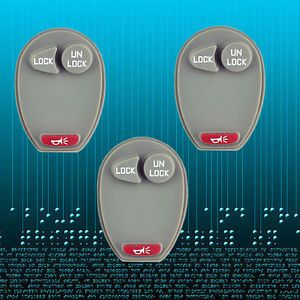 Lot 3 New Keyless Remote Key Pad Rubber for Hummer H3 Chevrolet Isuzu GMC Canyon