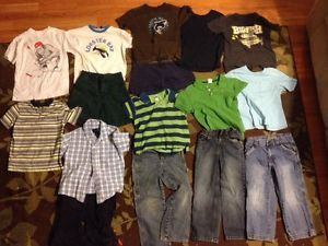 Lot of 16 Boys 5T Gap Old Navy Carters Toddler Jeans Shirts Shorts 5
