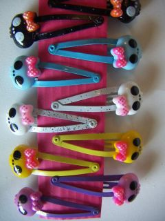Colorful Monster High Skull Hair Clips Snap Clips LOT110 Pcs Resin Flatbacks