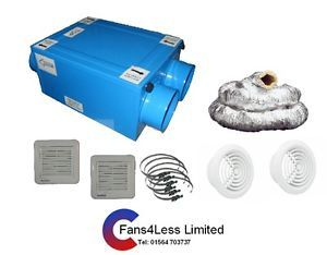 Sale Heat Recovery Unit Fan Condensation Ventilation Complete Kit 2 or 1
