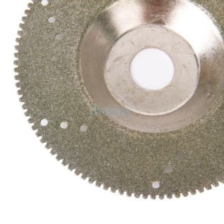 5X Grit 80 Diamond Cutting Disc Saw Blade Cut Off Wheel Craft Jewelry Tool 100mm