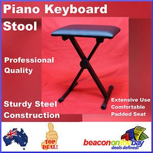 Folding Piano Keyboard Guitar Stool Musician Bench Seat Chair Heavy Duty x Frame