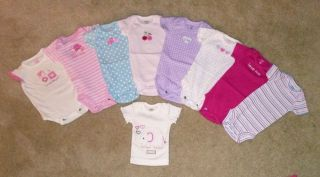 Infant Baby Girl Clothes Lot Size Newborn 0 3 Months Spring 105 Pcs Carters