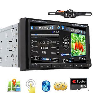 "HD Double DIN 7"" Touch Screen Car DVD Player GPS Camera"