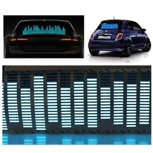 Agptek 45 11cm Sound Music Activated Car Stickers Equalizer Glow Blue LED Light