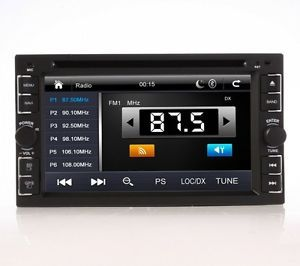 "Auto GPS 6 2"" Navigation System 2 DIN in Deck Car DVD Player Touch Screen Stereo"