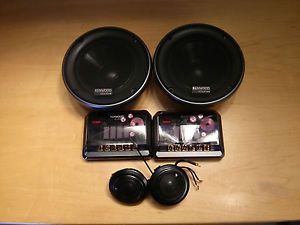 Kenwood Excelon 5 25 Components Car Audio Stereo Speakers Xover Tweeter Midbass