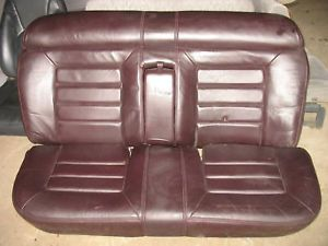 Cadillac DeVille Seat Set Rear Leather Burgandy