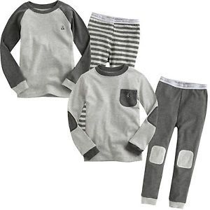 "Vaenait Toddler Kid Boy Girl in Door Sleepwear Pyjama Set ""Basic Grey"""