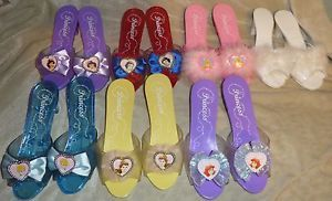 Girls Disney Princess Dress Up Shoes Jasmine Cinderella Ariel Snow White Belle