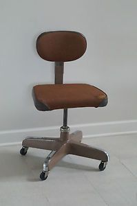 Vintage Cramer Aluminum Office Chair Industrial Machine Age Art Deco Mid Century