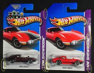 5238 Lot of 2 Hot Wheels 2013 Toyota 2000GT Super Treasure Hunt Main Line