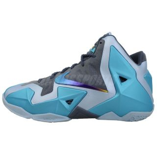 Nike Lebron XI 11 GS Gamma Blue 2013 James Boys Girls Youth Basketball Shoes