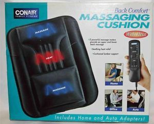 Conair Back Comfort Massaging Cushion Chair Pad with Heat BMS2 L183 New