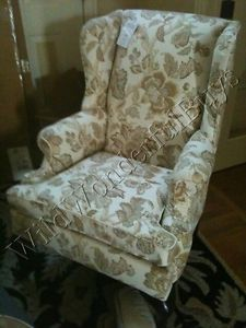 Pottery Barn Gramercy Wingback Chair Tara Palampore Neutral French Country