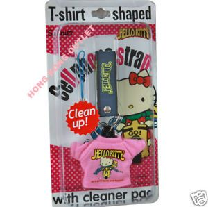Hello Kitty Cellphone Charm with Screen Cleaner Pad