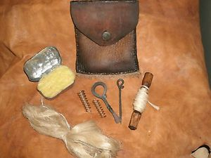 Longhunter Gun Cleaning Kit Fur Trade Mountain Man Black Powder New LQQK