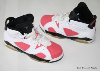 Nike Air Jordan Retro VI 6 Coral Pink Carmine Girl Sz 11 Indonesia