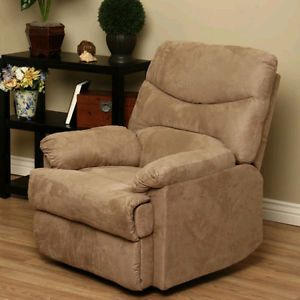 Relax Home Theater Recliner Chair Sofa Couch Living Room Seat Tan Lazy Boy Bed