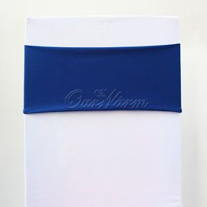 Royal Blue Spandex Lycra Stretch Chair Cover Bands Replace Chair Sash Wedding