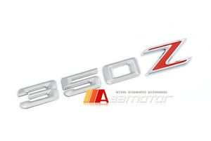 3D Style Red Letter Trunk Lid Rear Emblem Nissan 350Z 350 Chrome Z Red Badge