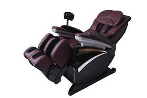 New Full Body Zero Gravity Shiatsu Burgund Massage Chair Recliner 3D Hand EC01