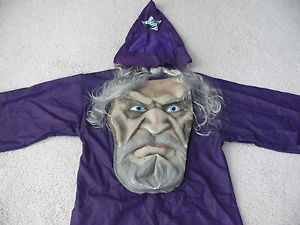 Child Boy Girl Scary Halloween Unique Big Head Face Wizard Costume L 10 12 14
