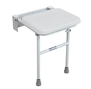 Wall Mounted Folding Shower Seat Chair Adjustable Legs